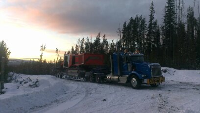 hauling in snow