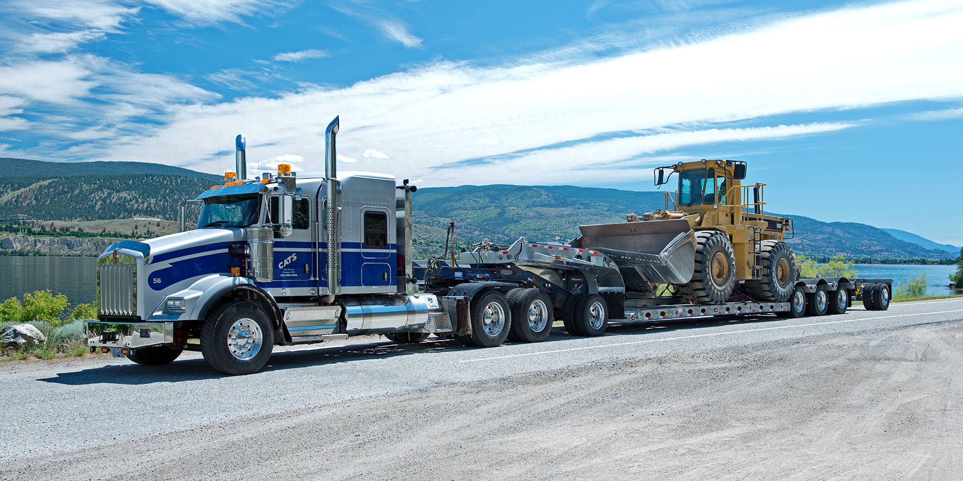 lowbed truck at penticton